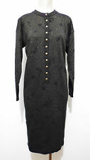KRIZIA VINTAGE '80 Abito Vestito Donna Lurex Lana Woman Wool Dress Sz.L - 46
