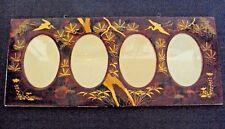 cadre porte photos en bois laqué décor japonisant fin 19 ème début 20 ème