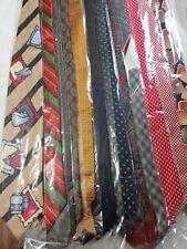 NEW Bulk Men's Designer Neckties Ties Lot of TWELVE (12) Wholesale RANDOM