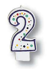 Polka Dot Number 2 Candle