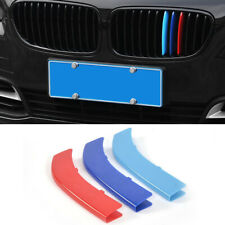 M Color Car Auto Front Kidney Grill Strip Bar Cover Trim For BMW 3 Series 13-18