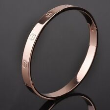 Mens Womens Stainless Steel 6mm 8mm Nail Screw Bangle Bracelet Wristband #BR6