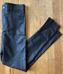 Zara Faux Leather Leggings Trafaluc Pants High Rise Zip Ankle Sz Small