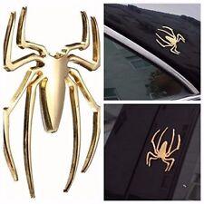 Golden 3D Spider Metal Sticker Car SUV Off Road Decor Badge Emblem Logo Decal US