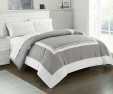 Finley 5-Piece Reversible California King Comforter Set in Grey w/Sheet Set