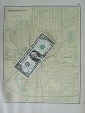 1819 IN MAP IND Syracuse Tell City Trail Creek Upland old INDIANA history   HUGE