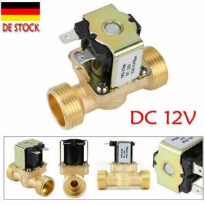 Magnetventil G3/4  Messing Geschlosse Elektroventil Wasser Ventil DC12V/24V/36V