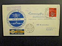 Germany 1957 Leipzig Dresden 45th Ann. Flight Cover (Light Right Crease) - Z4633