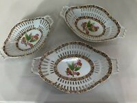 3 Piece Set Ceramic Beautiful Bowl Painted Serving Bowls Fruit Bowls Geometric