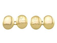 15k Yellow Gold Victorian Cufflinks in