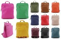 Ladies Real Soft Leather Backpack Gilrs Rucksack Shoulder Travel School Handbag