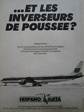 82-83 PUB HISPANO-SUIZA HARFLEUR GONFREVILLE INVERSEUR DC8 UNITED AIRLINES AD