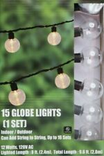 New listing Lot of 4 Clear indoor/outdoor Yard Patio Garden Party (4)15-Bulb String Lights