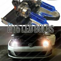 H15 White Car Halogen Bulbs 55W DRL Daytime Running Lights Dual Filament Lamps