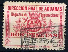 DIRECCION GENERAL DE ADUANAS REGISTRO DE IMPORTACIONES DOS PESETAS