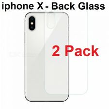 2X 100% Genuine Tempered Glass Film Screen Protector Apple IPhone X- Back Only