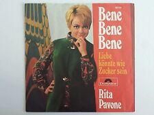 """Vinyl-7""""-Cover # only Cover # Rita Pavone # Bene Bene Bene # 1969 # vg+"""