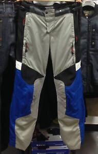 BMW Motorrad Motorcycle Rallye 2 Pants Men's Size 46 EU / 36 US Grey/Blue