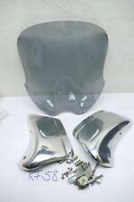 Windschild Aluminium silber hochglanz poliert für Honda X11 neu Road Racing KF58