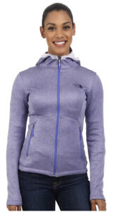 The North Face Womens Outdoor Active Agave Hoodie Sweater Jacket  Purple Large