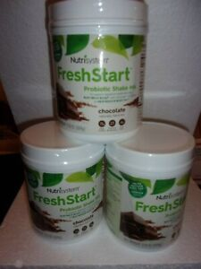3 Nutrisystem Probiotic Fresh Start Chocolate Shake Mix 17.3oz