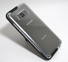 For Samsung Galaxy S8 Plus ( S8+ ) CLEAR CASE with SLIM BELT CLIP HOLSTER