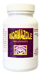Wormazole Capsules, Dewormer for Gamefowl, Poultry, Chickens (100 Capsules)
