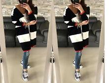 NEU Damen Pullover Strickjacke Lang Cardigan Boho Blogger Street Style S/M 662
