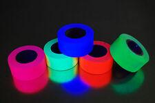 5 Pack 1 Inch Blacklight Reactive Fluorescent Gaffer Tape 5 Rolls x 6 Yards