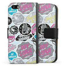 Apple iPhone 5 Tasche Hülle Flip Case - Sticker Logos