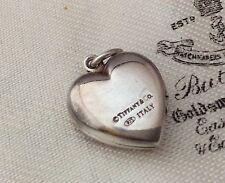 VINTAGE gioielli Adorabili Autentico Tiffany & Co Argento Sterling Cuore Medaglione