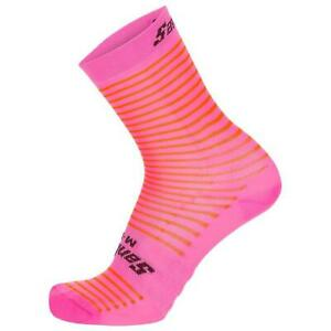 Santini Mille Cycling Socks in Orange