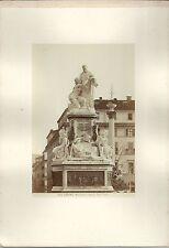 1880 ca TORINO monumento Camillo Benso di Cavour Duprè foto albumina 15x10 cm