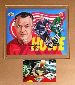 Red Wings Gordie Howe autograph signed Upper Deck Career Sheet