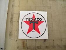 "Vintage Texaco Gasoline sticker 3"" diameter"