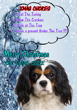 Cavalier King Charles Spaniel ptcc278 Christmas Card A5 Personalised Greeting