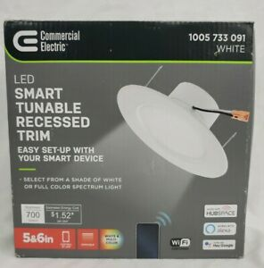 5 in./6 in. Smart Color Selectable CCT LED Recessed Light Trim
