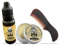 The Beard & The Wonderful, Moustache & Beard Kit - Beard Oil, Wax, & comb Set