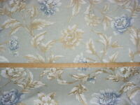 18-3/4Y Mulberry FD252 Gilded Peony Aqua Blue English Print Upholstery Fabric
