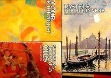 3 ART Artist SKILLS Handbooks Starting Paint OILS Colour Beginning PASTELS 96pg