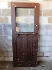 Antique Craftsman Style Entry Door - 1910 Three Pane Fir Architectural Salvage