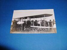 DELLOYD THOMPSON'S WRIGHT BIPLANE LISLE,ILL. SEPT.15,1912 PHOTO RPPC AVIATION