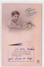 CPA Old Postcard vintage Enfant FOX PARIS 4704 BONNE ANNEE