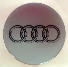 Audi  Sticker Badge Decal 95mm  - Black and silver rings on silver bakground