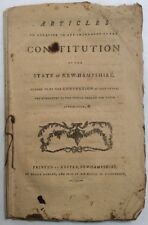 Articles In Addition To & Amendment Of Constitution State Of New Hampshire 1792