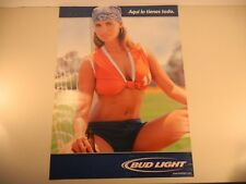 Bud Light Beer Poster NOS - Pin Up Sexy Girl Soccer Sports