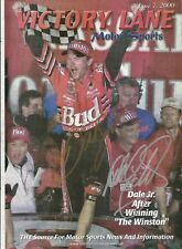 2000 Dale Earnhardt Sr & Dale Earnhardt Jr Dual Signed Victory Lane Magazine