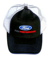 FORD PERFORMANCE HAT IN BLACK WITH WHITE MESH BACK