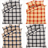 Highland Tartan Check Flannel 100% Brushed Cotton Duvet Cover Sets Bedding Sets