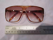 VINTAGE MENS FOSTER GRANT SUNGLASSES - 1970'S BROWN OVERSIZED SQUARE FLAT TOP